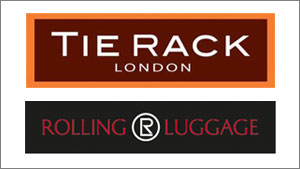 Tie Rack / Rolling Luggage Logo