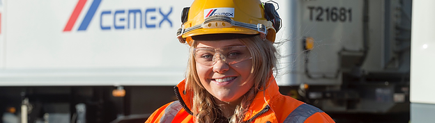 Emily Luff, the only female candidate out of 14 successful apprentices on this year's Cemex UK driver apprentice scheme